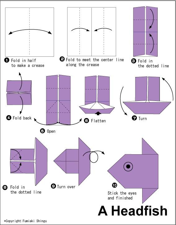 මාළුවෙකුගේ මුහුණ හදමු (Origami Head Fish) - Your Choice Way