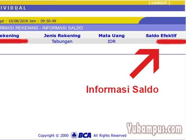 Cara Cek Saldo Bca Lewat Internet Banking Klikbca Yukampus