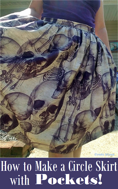 how to make an A line skirt with pockets