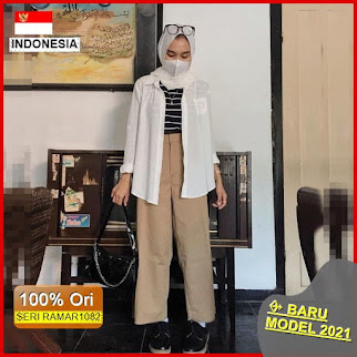 RAMAR1082 NEW SET BAGGY PANTS BASIC BARU 2021