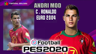 PES 2020 Faces Cristiano Ronaldo 2004 by Andri Mod