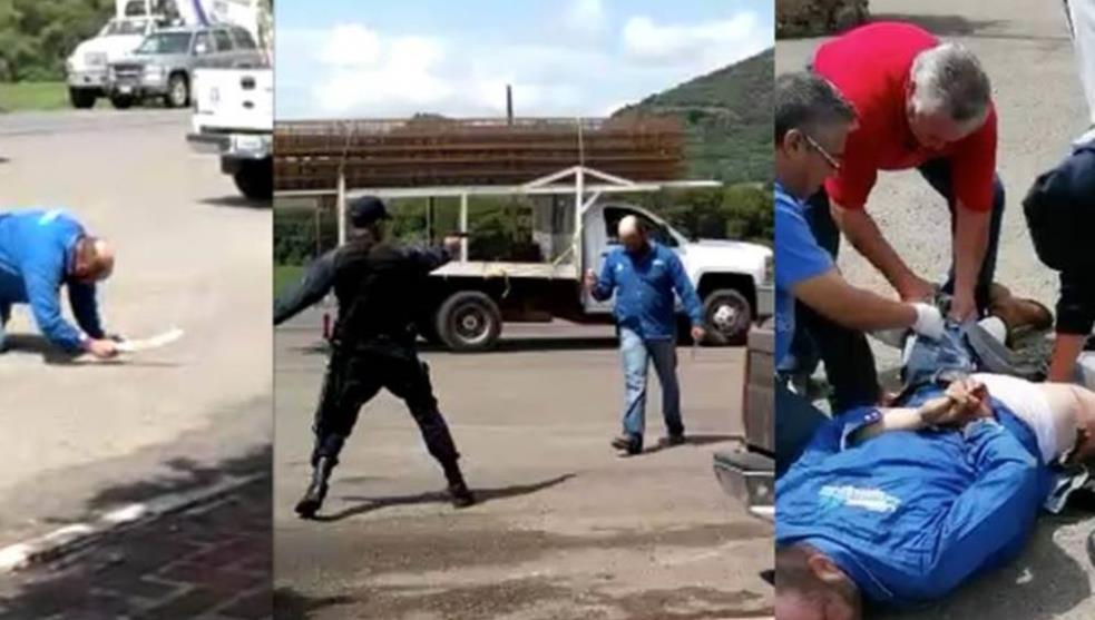 VIDEO; Sujeto sale de sus cabales, enloquece en restaurante de Jalisco, mató a repartidor, hirió a meseras y amenazó a policías