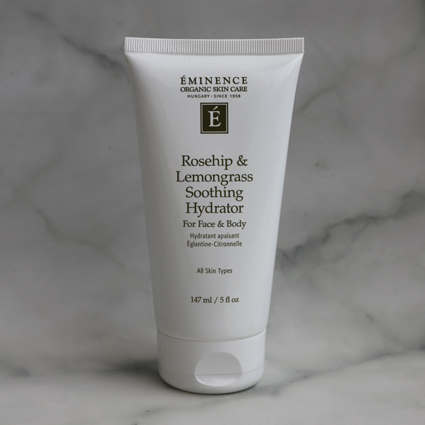 eminence organic skincare rosehip lemongrass soothing hydrator face body