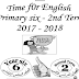 تحميل مذكرة اللغة الانجليزية للصف السادس الابتدائي الترم الثاني 2018 منهج time for english