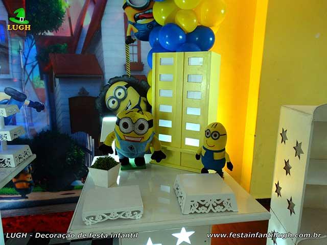 Decoração de festa infantil Minions - Mesa temática de aniversário