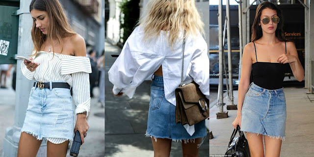 How To Style // Denim Skirts
