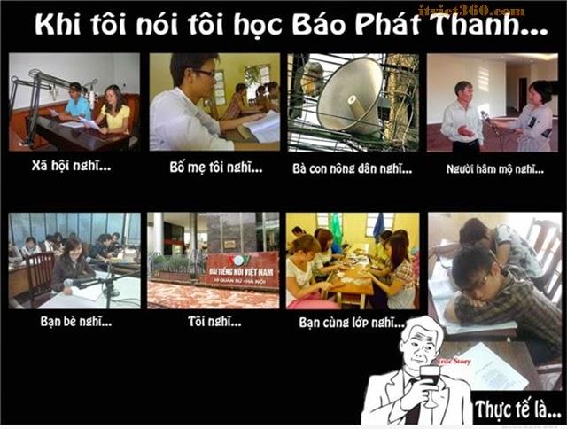 + Khi tôi nói tôi học báo chí Phát Thanh...