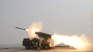 DRDO successfully Test Fired advanced version of Pinaka Rocket