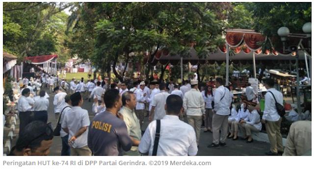 Prabowo akan Pimpin Upacara HUT ke-74 RI di DPP Gerindra