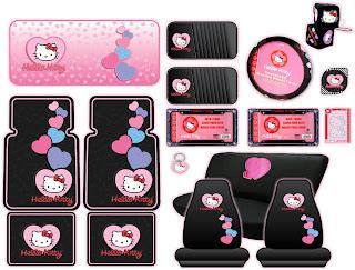 Shelly's Super Spiffy Stuff : Hello Kitty Auto Accessories