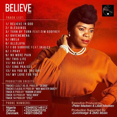 #BelieveAlbum: BELIEVE Album by Lilian Dinma drops tomorrow