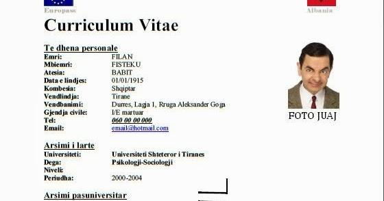 curriculum vitae shqip shkarko