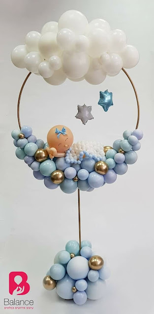 Baby Hoop design by Esty Landman of Balance Balloons in Israel