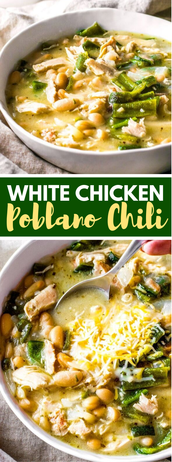 WHITE CHICKEN CHILI #dinner #comfortfood
