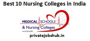 Best 10 Nursing Colleges in India