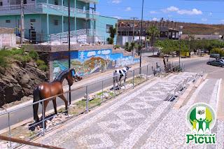 """Praças são restauradas pelo programa """"Picuí Cidade Nova"""", através da Secretaria de Infraestrutura"""