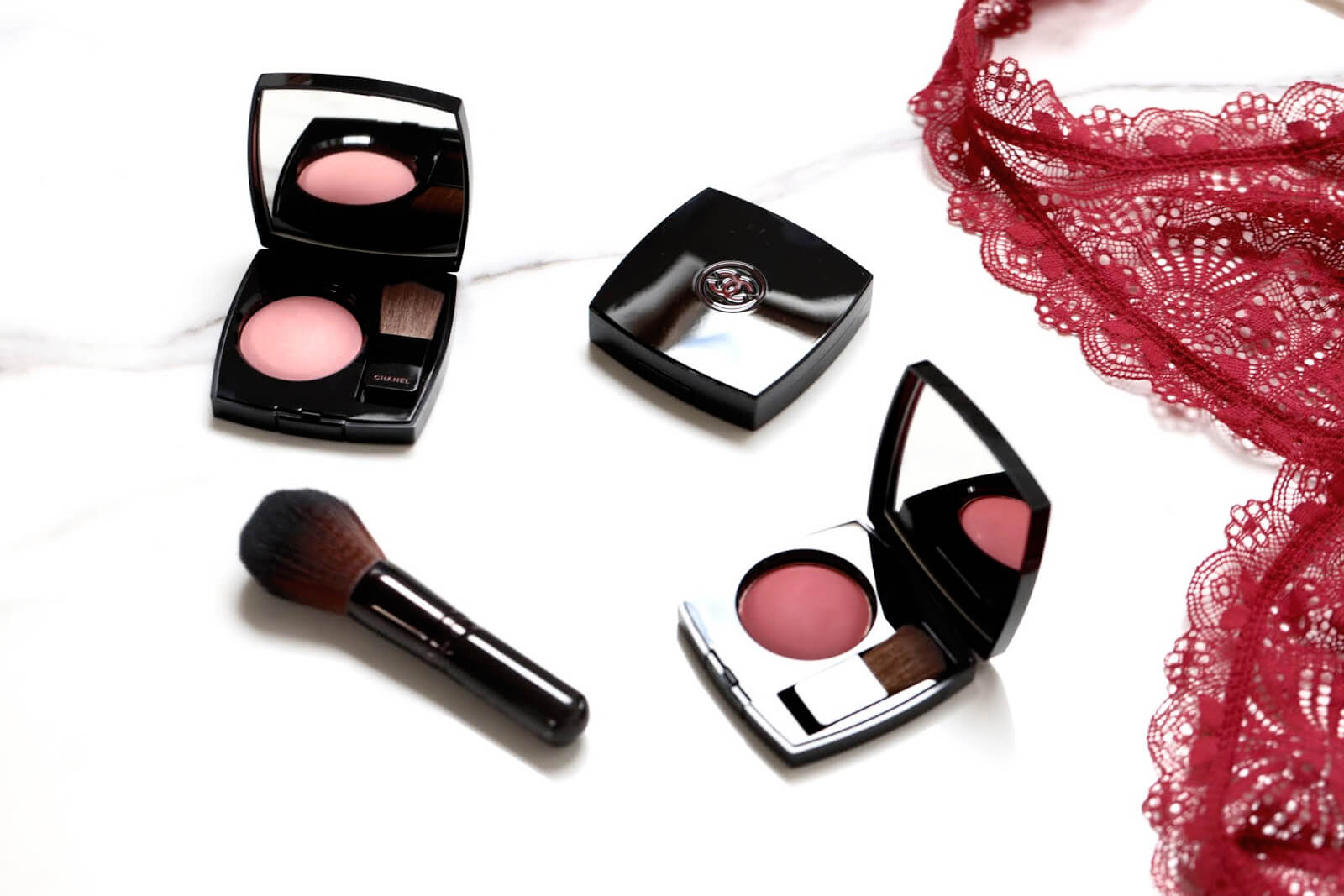Chanel Joues Contraste Blush 71 Malice 320 Rouge Profond 72 Rose Initial