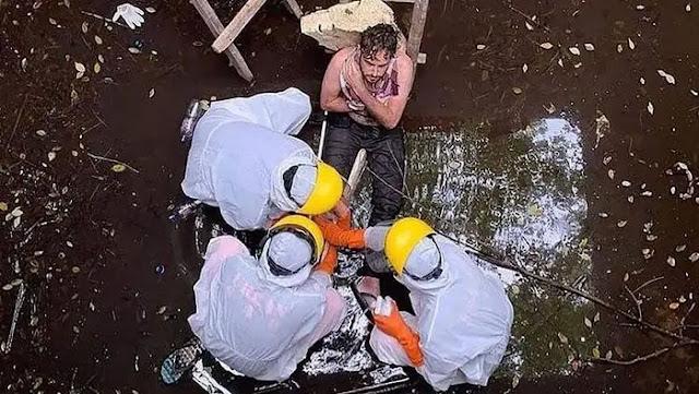 Gegara dikejar Anjing WNA Terjebak Di Sumur 6 Hari