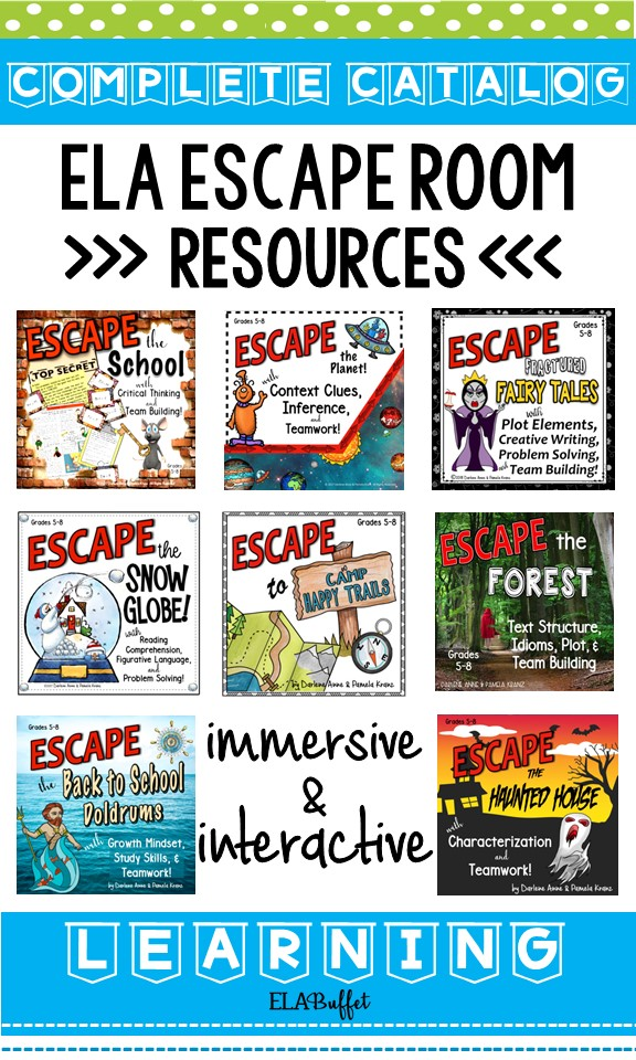 Teaching with escape rooms is a classroom game-changer! Kids are so engaged that they don't even realize they're learning! Escape rooms have helped my students' close reading, critical thinking, and team building skills. The breakout can introduce a unit of study, or it can review a teaching unit. Some teachers even use them as class rewards! #escaperoom #breakout #middleschool #reading #English #rewards #school #classparty #learninggames