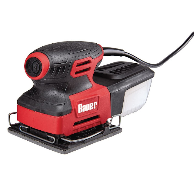 Bauer 2.2 Amp 1/4 Sheet Heavy Duty Palm Finishing Sander