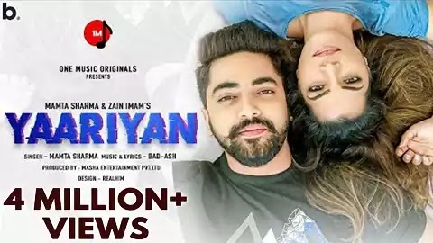 Yaariyan Lyrics - Mamta Sharma, Bad-Ash | Latest Hindi New Romantic Song