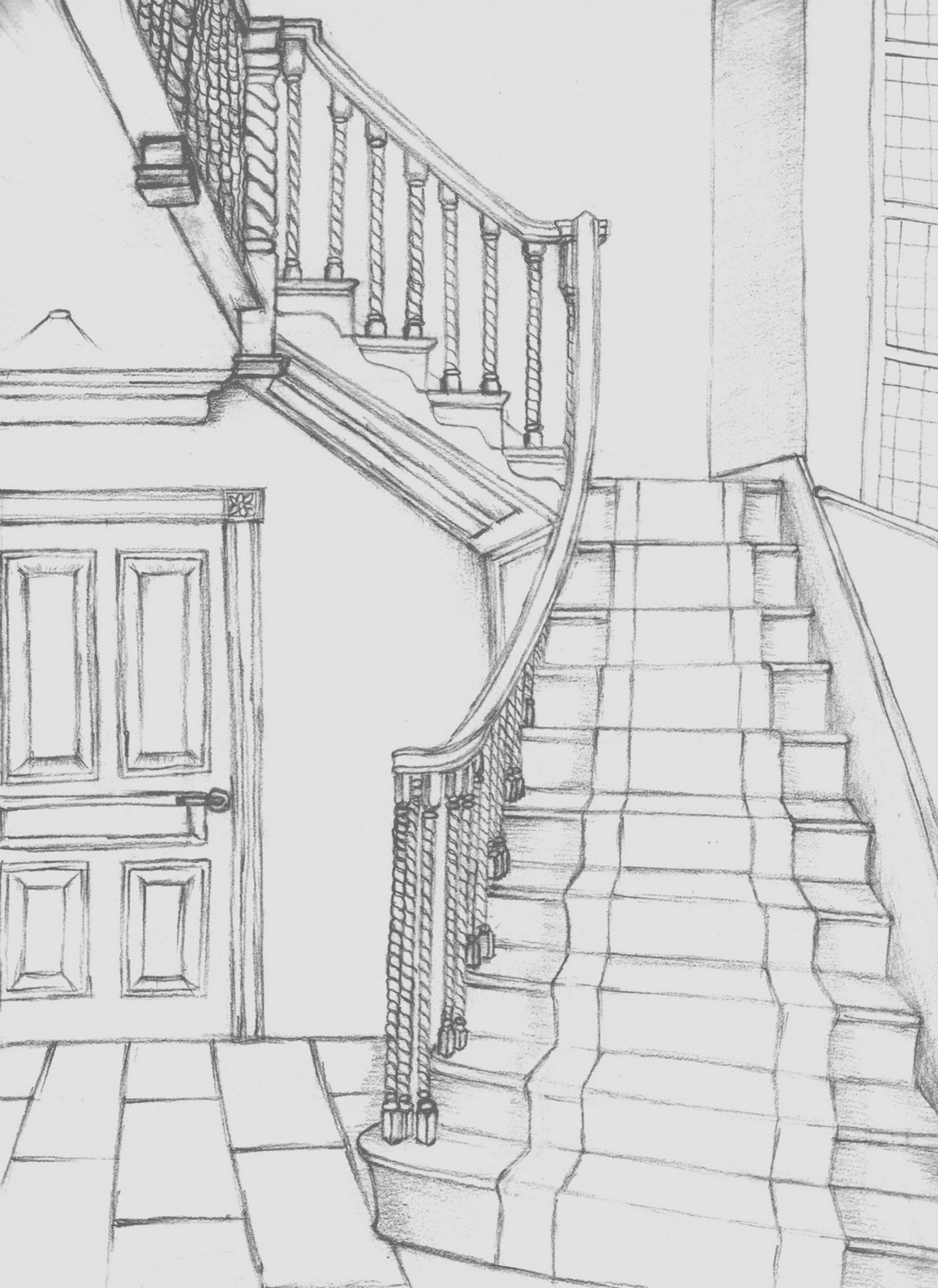 Inside House Drawing: Interior Designer: Drawings & Sketches