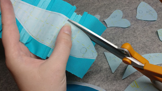 Cutting applique shapes