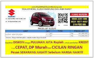 Suzuki Splash Bandung 2016, Harga Suzuki Splash 2016, Kredit Suzuki Splash 2016