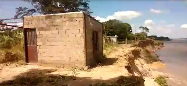 """APURE: Se está desbarrancando algunas partes del sectores """"Las Mercedes"""" a orillas del río Apure en San Fernando. (VIDEO)"""