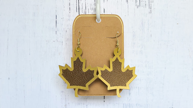 freebie friday, free silhouette studio file, free studio design, HTV, faux leather earrings