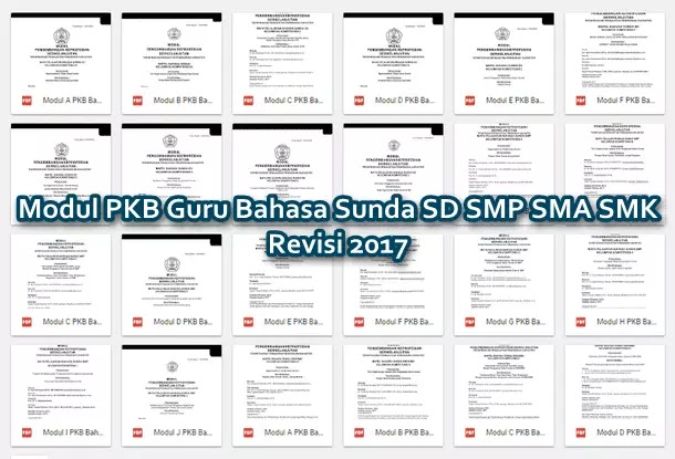 Modul PKB Guru Bahasa Sunda SD SMP SMA SMK Revisi 2017