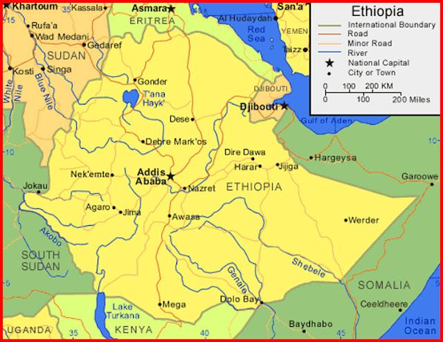 image: Map of Ethiopia