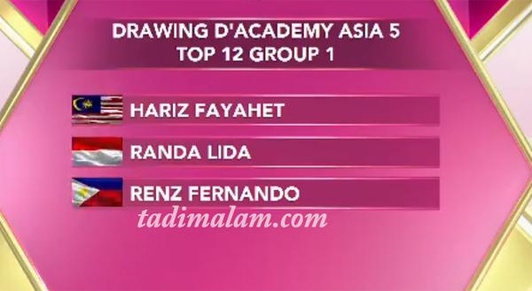 Grup top 12 besar da asia 5