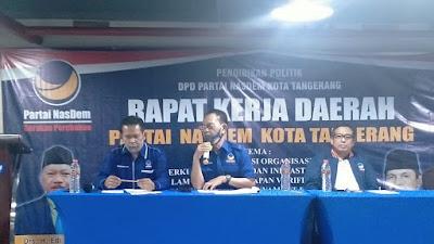 Rakerda DPD Nasdem Kota Tangerang, Hadapi Pemilu 2024 Cari 12 Ribu Kader Potensial