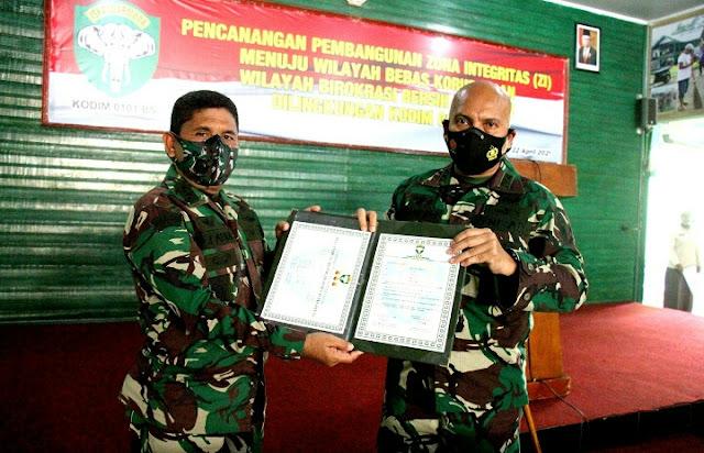 Dandim 0101/BS : Kodim 0101/BS Siap Menyandang Predikat Zona Integritas