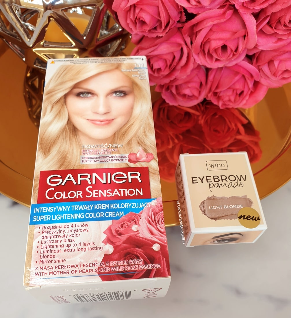 Pomada Wibo Light Blonde i farba Garnier Color Sensation 111