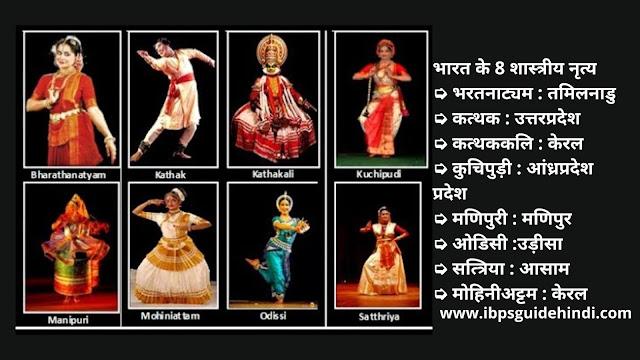 भारत के 8 शास्त्रीय नृत्य