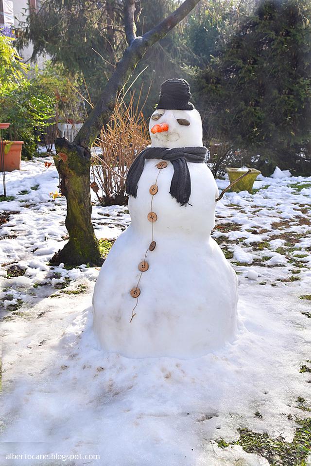 Pupazzo di neve a Miilano