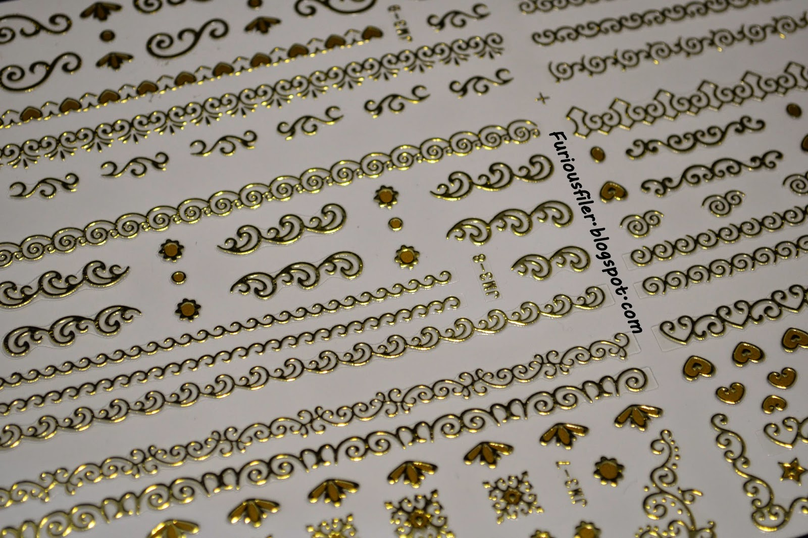 BPS gold 3D nail art stickers