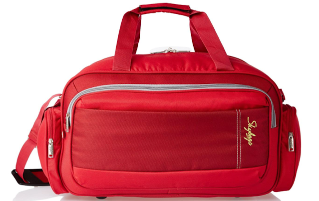 Skybags Cardiff Polyester 55 Cms Red Travel Duffle (DFCAR55ERED)