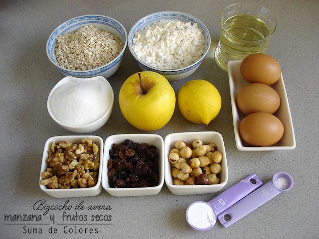 Bizcocho-avena-manzana-Ingredientes
