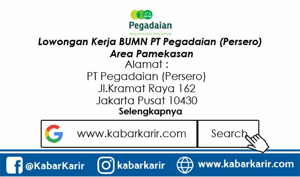 Lowongan Kerja BUMN PT Pegadaian (Persero) Area Pamekasan