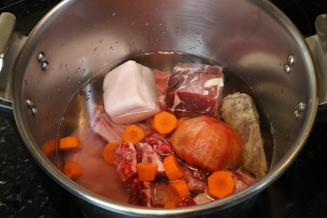 Preparación de cocido de otoño