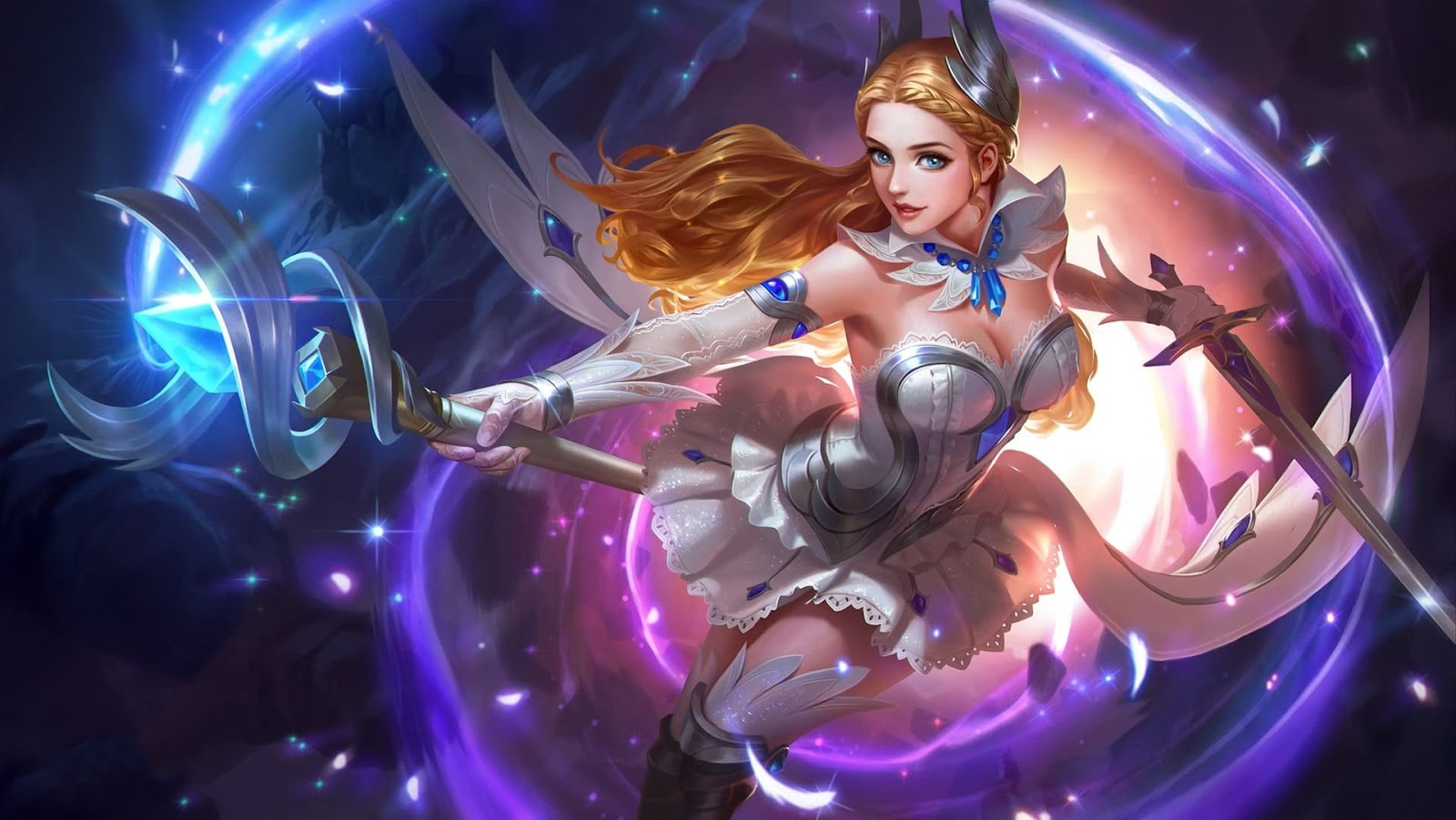 Wallpaper Odette Swan Princess Skin Mobile Legends HD for PC