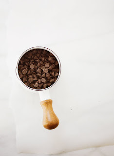Small pot of chocolate chips