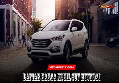 Daftar Harga Mobil SUV Hyundai