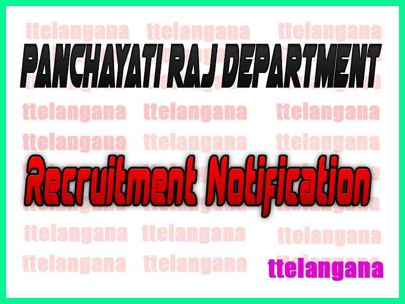 Panchayati Raj Department PRD Recruitment Notification