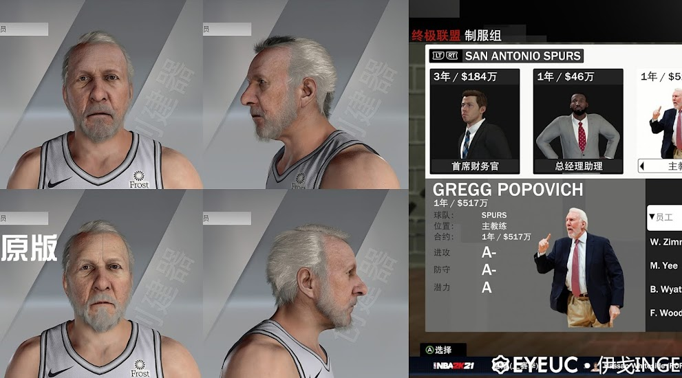 Gregg Popovich Cyberface and Body Model by Igo Inge [FOR 2K21]