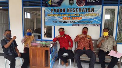 Dua Anggota Dewan Purworejo Kunjungi 15 Posko Penanggulangan Covid-19 diwilayah Kecamatan Pituruh