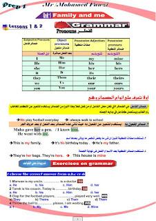 تحميل مذكرة قواعد في اللغة الإنجليزية للصف الأول الاعدادي ترم أول 2021 pdf